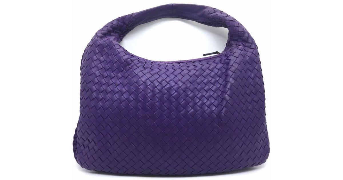 6c0eca58db73 Lyst - Bottega Veneta Intrecciato Leather Hobo Bag Purple in Purple