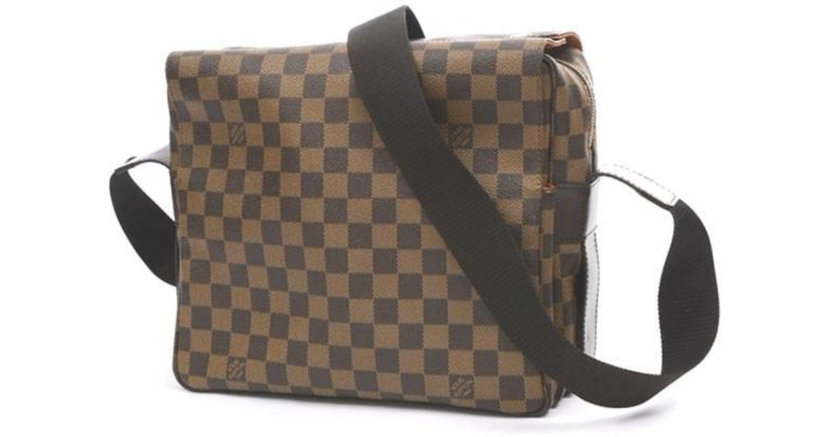 72c336858b1a Lyst - Louis Vuitton Damier Naviglio Shoulder Bag N 45255 in Brown