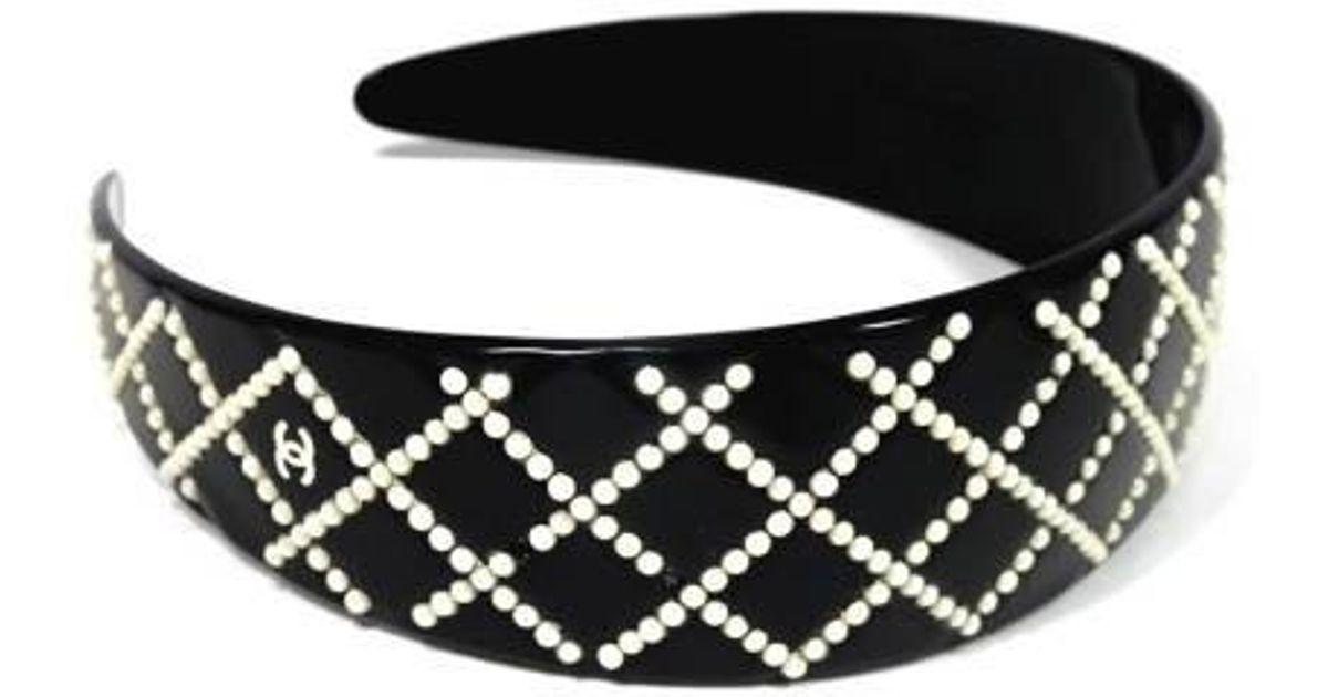 Lyst - Chanel Headband Coco Mark Black Ladies in Black 0e54afbeadc
