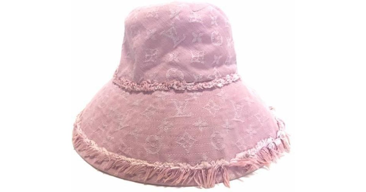 Lyst - Louis Vuitton Hat Monogram Denim Pink Hat S Size Monogram Actress Hat  Women s Denim Vuitton in Pink 32dc3f90406