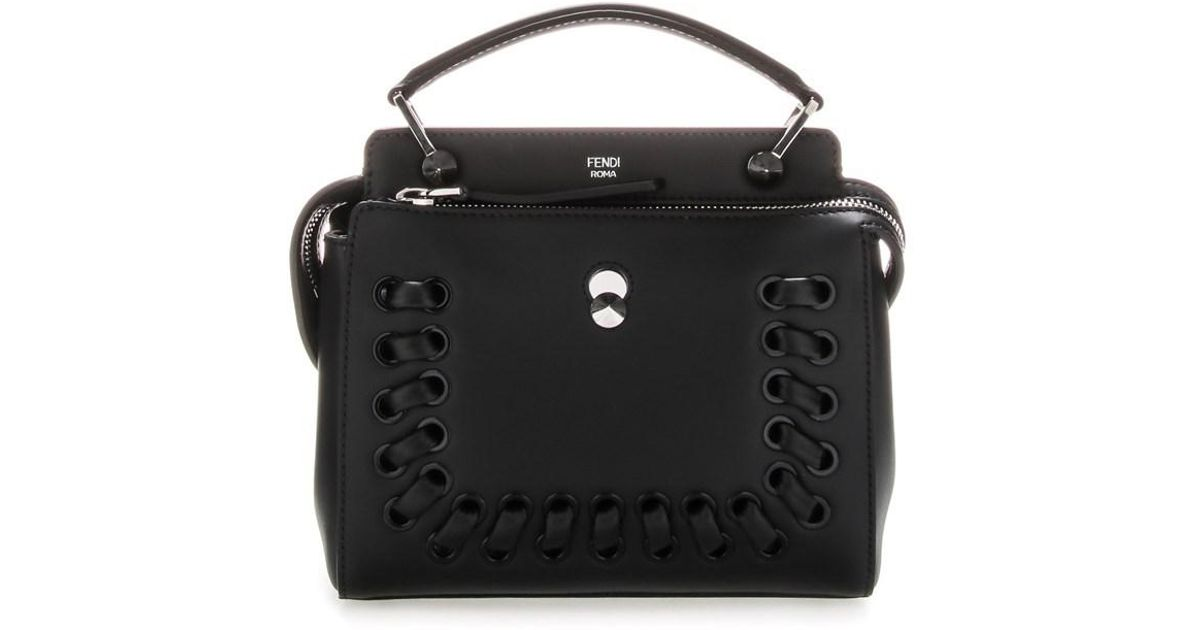 8aaa7f1c97 ... inexpensive lyst fendi dot hand bag in black a715a 5236f