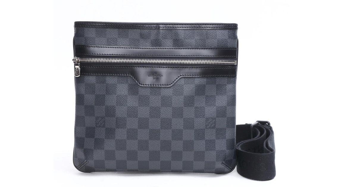 Lyst Louis Vuitton Thomas Messenger Bag Damier Graphite N58028 In 1b134d7ccbce9