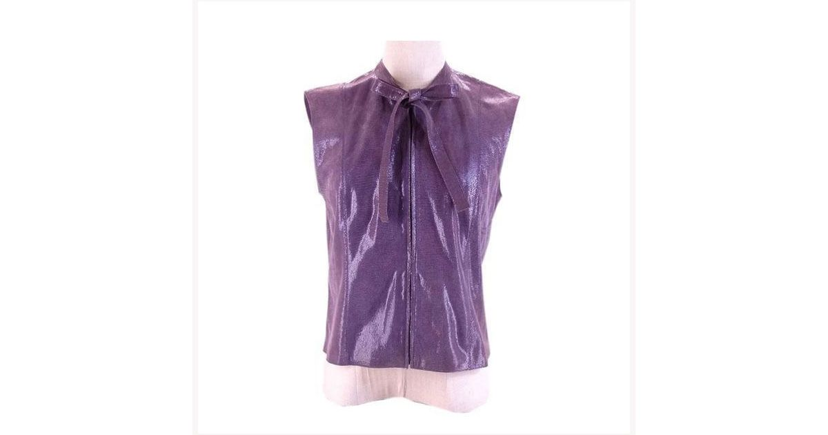 95a8093be33e0e Chanel Tops Ladies Used M908 in Purple - Lyst