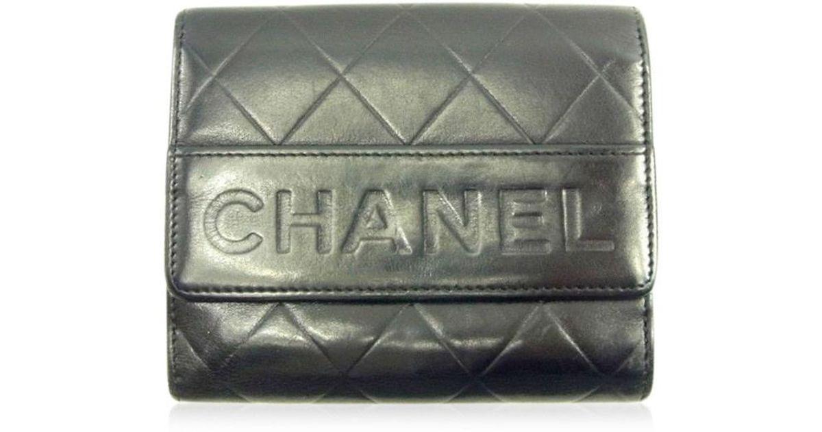 20d8fa1a7ba1 Lyst Chanel Double Sided Wallet Calfskin Womens Mens T4590 In