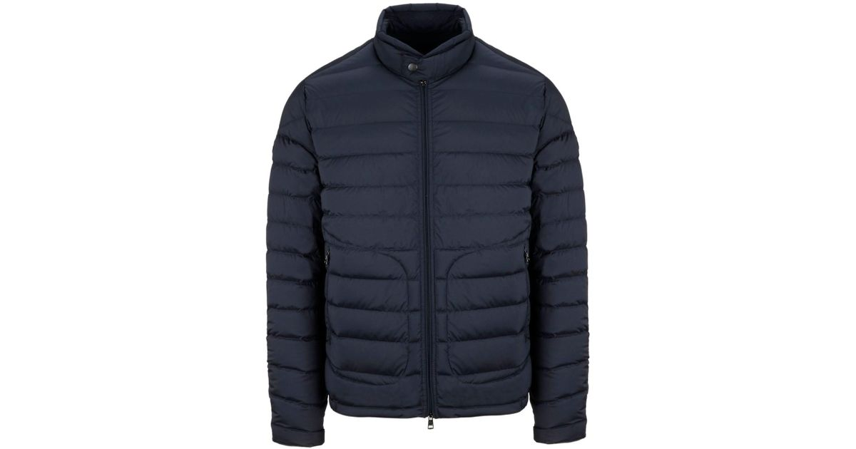 b974c4e968fe Lyst - Moncler Men s 419899553132775 Blue Polyamide Down Jacket in ...