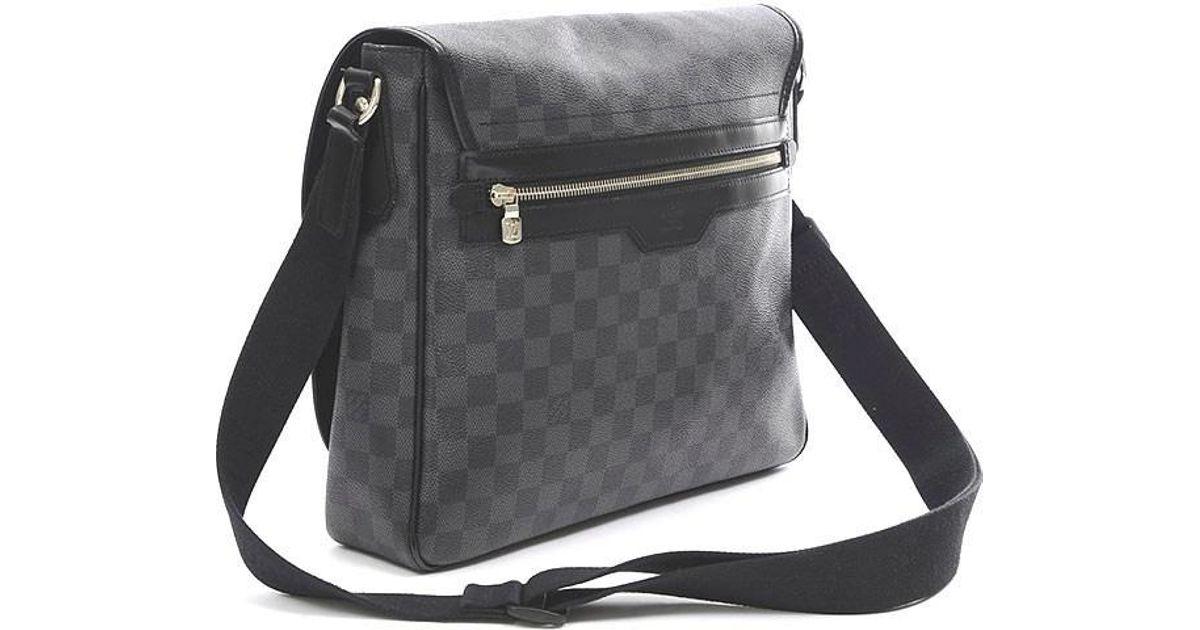 647257d420c2 Lyst - Louis Vuitton Damier Graphite Daniel Mm Shoulder Bag N 58029 in  Black for Men