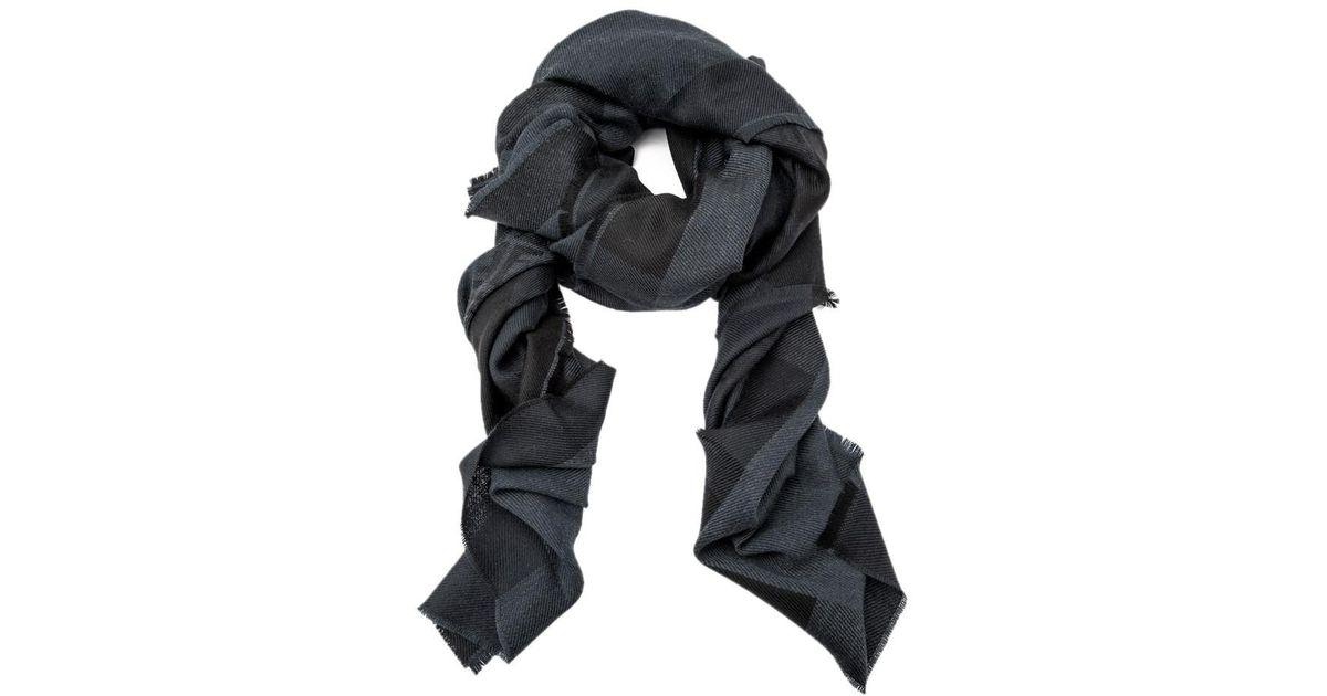 cd191e0fe reduced fendi grey zucca wool scarf grey 8fd6b 7adf8
