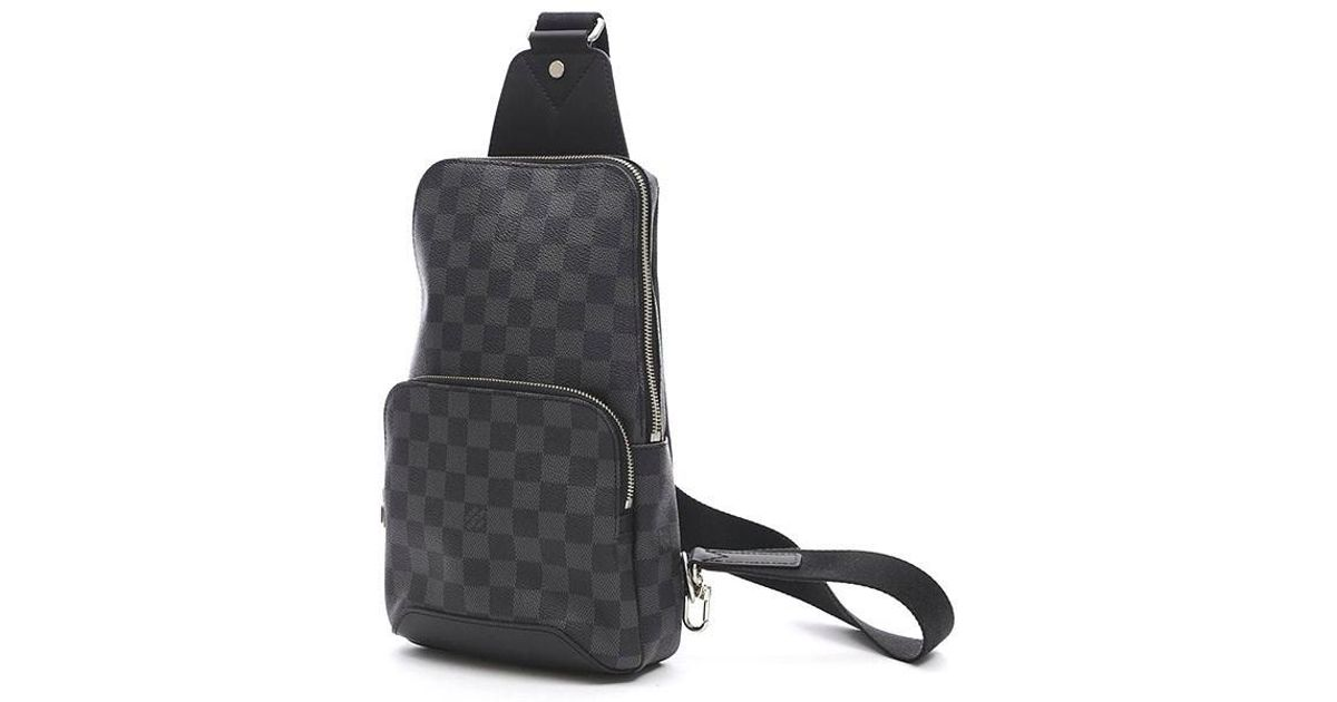 e7bcd56b2 Louis Vuitton Damier Graphite Avenue Sling Body Body Bag N41719 in Black  for Men - Lyst
