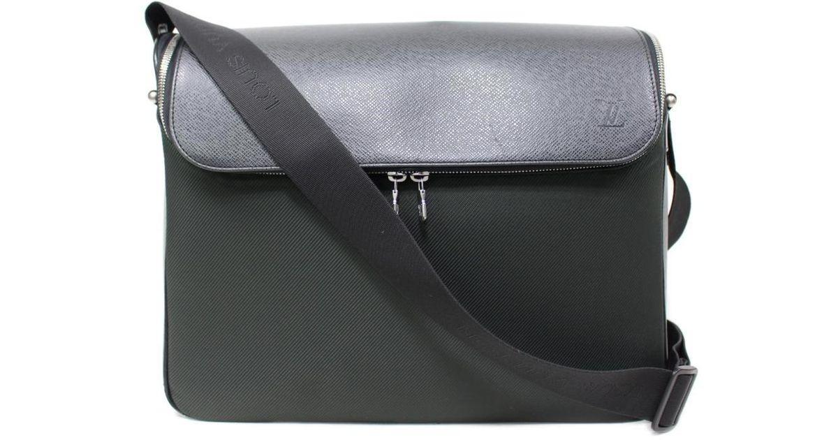 ba1ab3199c9b Lyst - Louis Vuitton Authentic Taimiru Shoulder Bag M30862 Taiga Used  Vintage in Black for Men