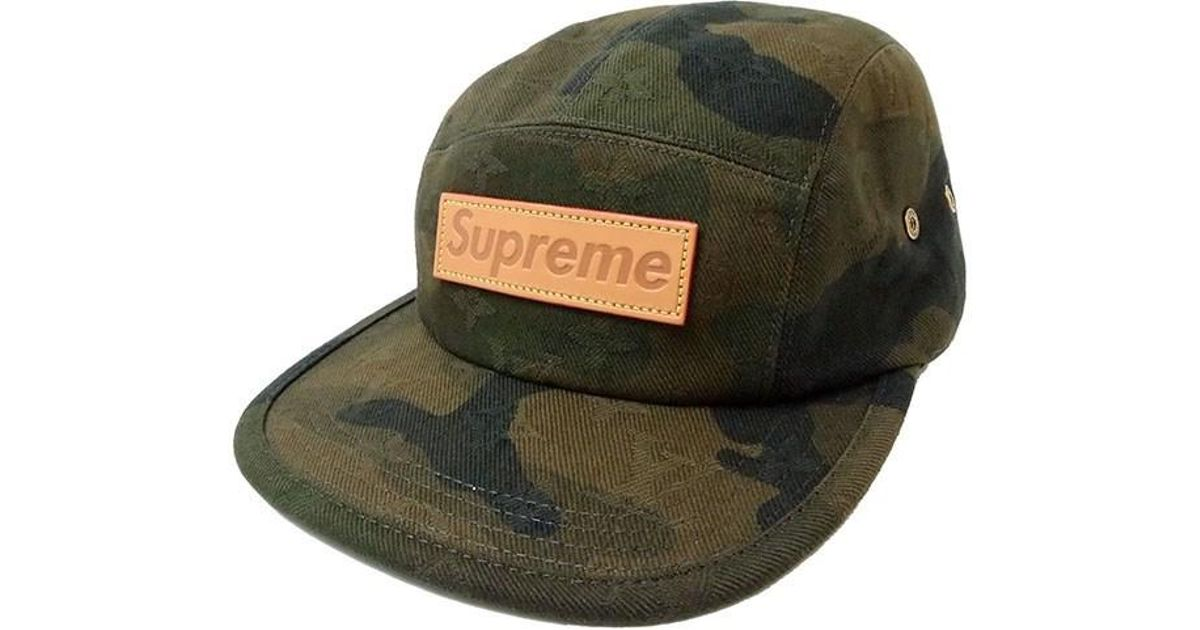 Lyst - Louis Vuitton X Supreme Camping Cap Monogram Camouflage  new  in  Green for Men f15b09b191c