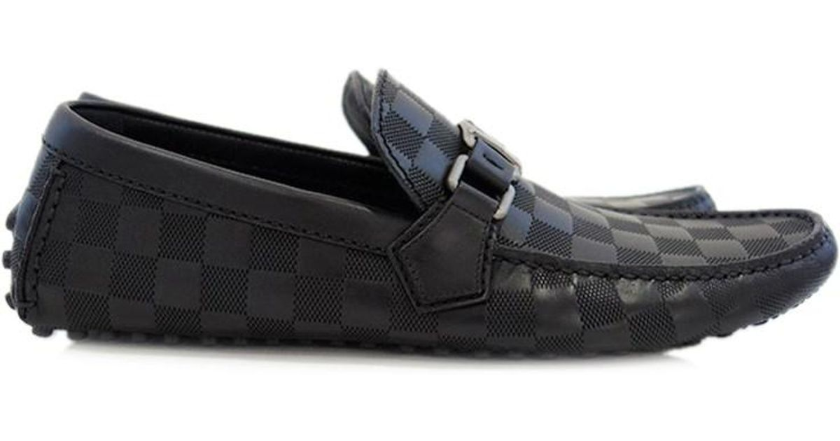 1ac9535bfc1 Lyst - Louis Vuitton Damier Infini Hockenheim Men s Shoes Loafer Driving  Shoes Size 7 in Black for Men