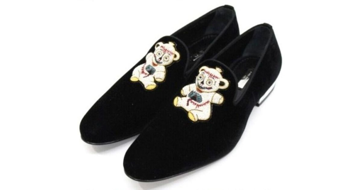 1f29c5eed617 Lyst - Louis Vuitton Rare! Unused! Chapman Brothers Collaboration Velvet Loafers  Black 7 in Black for Men