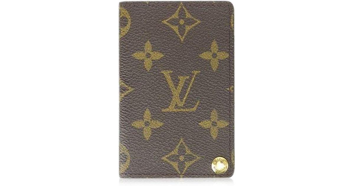 Lyst - Louis Vuitton Business Card Holder Monogram Ladies Men ...