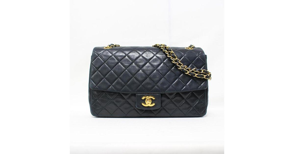 1449deab3ef22 Lyst - Chanel Matelasse Chain Shoulder Bag Lamb Skin Leather Black Used  Vintage in Black