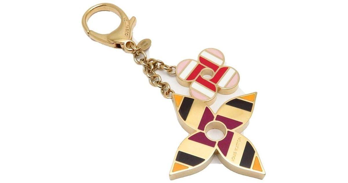 192e56b0f0ea Lyst - Louis Vuitton Bag Charm Pop Flower Key Ring Key Holder M68001   040286 in Metallic