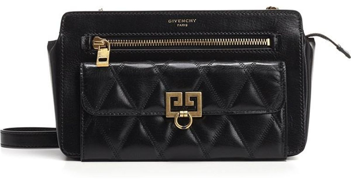 43fc26ac1d Lyst - Givenchy Crossbody Bags Fw18 Pocket Crossbody Bag In Black Leather  in Black