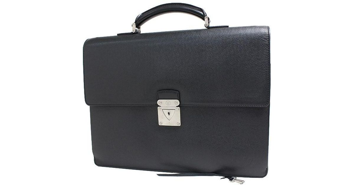 d8ae0e627ae8 Lyst - Louis Vuitton Taiga M31052 Taiga Business Bag in Black