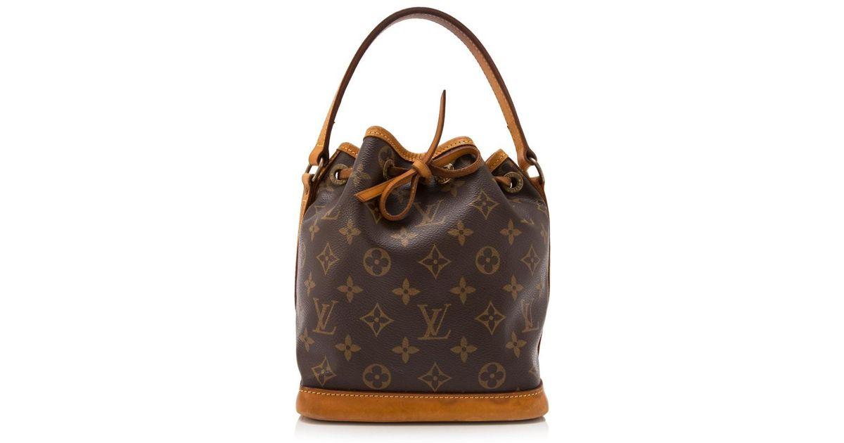 f8929b3ccdf1 Lyst - Louis Vuitton Pre-owned Monogram Mini Bucket Bag in Brown
