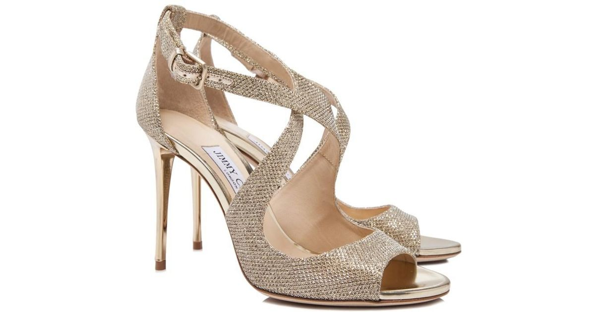 9a4b6360d83 Lyst - Jimmy Choo Emily 100 Sandals in Metallic