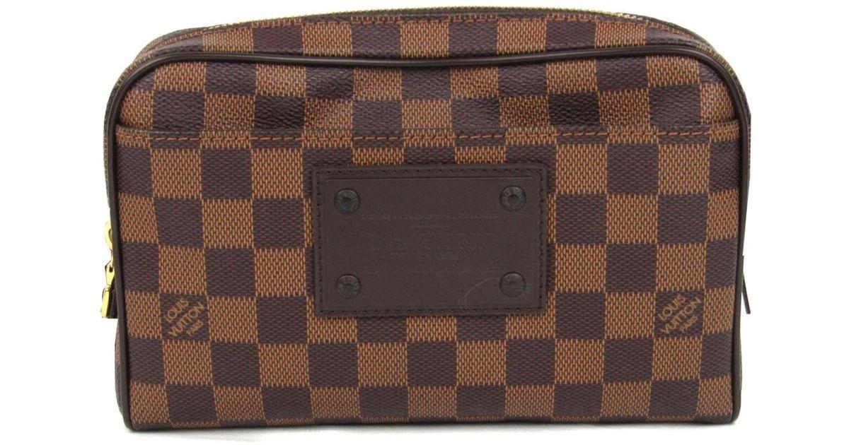 134d382bd57e7 Louis Vuitton Brooklyn Bum Bag Waist Bag Damier Canvas N41101 in Brown -  Lyst