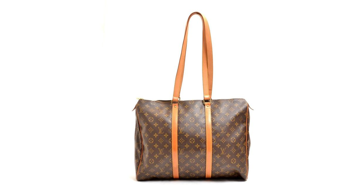 8de2ccb9632d7 Lyst - Louis Vuitton Monogram Canvas Flaneriepm Boston Bag M 51116 in Brown