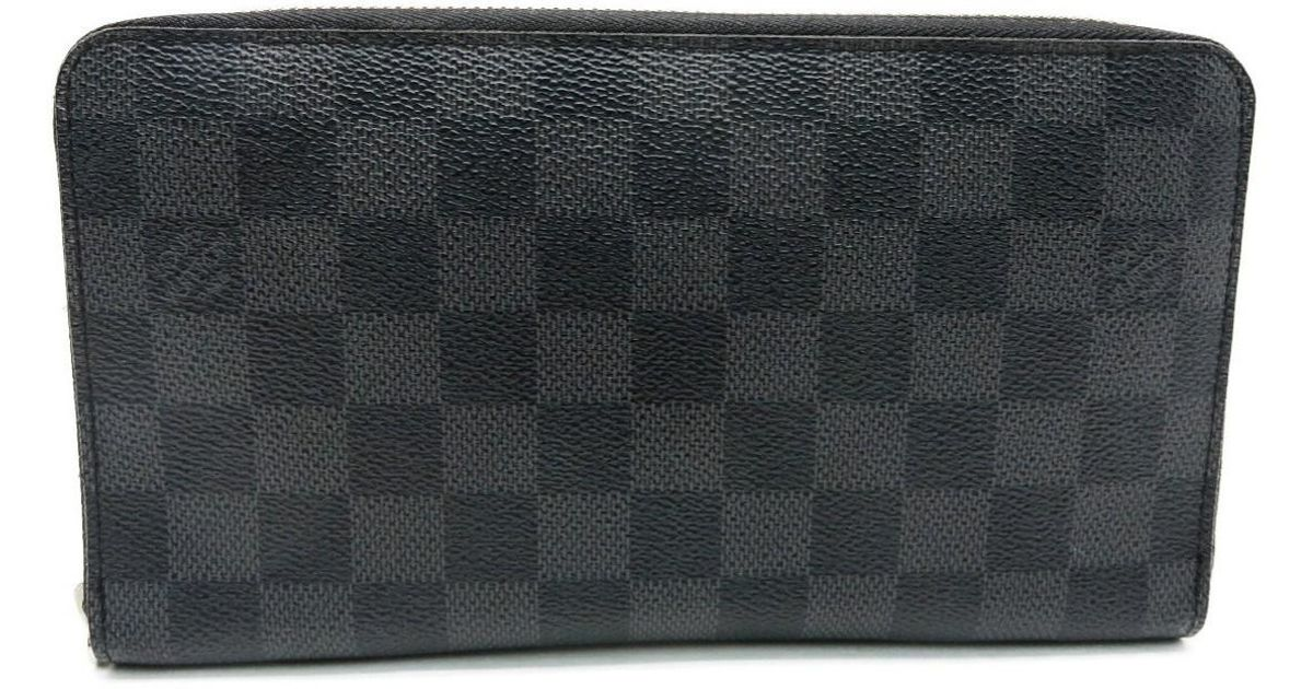 55ce9ded048e Lyst - Louis Vuitton Lv Zippy Organizer Wallet Purse Damier Graphite N63077  7411 in Black for Men