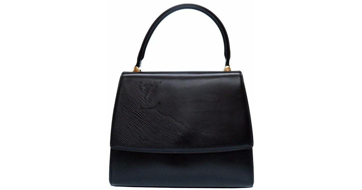 Lyst - Louis Vuitton M63902 Epi Opera Athenshand Bag Noir Leather Lv 0560  in Black e37d40289e68f