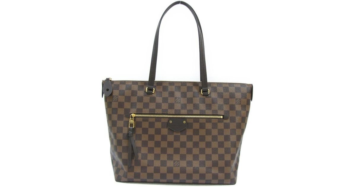 b3fa97b7bc Lyst - Louis Vuitton Iena Mm Shoulder Bag Damier N41013 in Brown