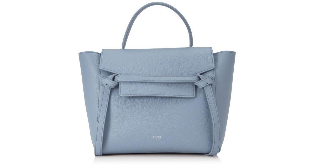 a7c7f4fd5e Lyst - Céline Céline Micro Belt Bag in Blue