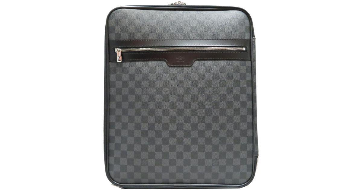 77a6bd4f0ee5 Lyst - Louis Vuitton Pegase 45 Luggage Bag Damier Graphite Canvas N23302  Black in Black for Men