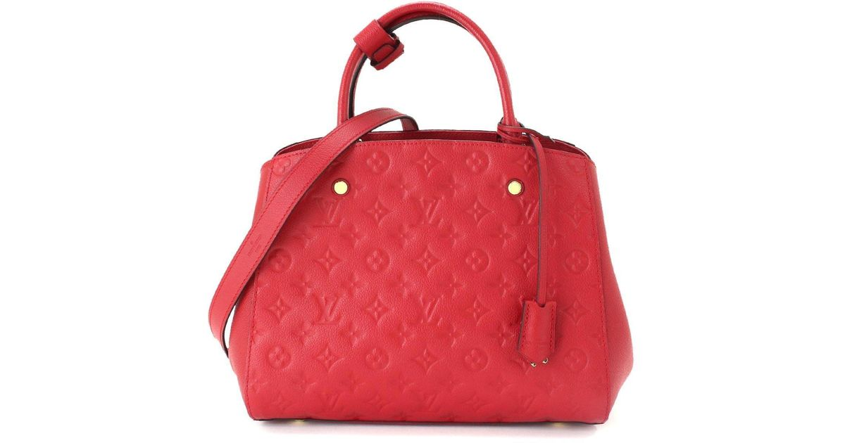 e9da63cfdadbc Louis Vuitton Empreinte Leather Montaigne Mm Hand 2way Bag 90042860.. in  Red - Lyst