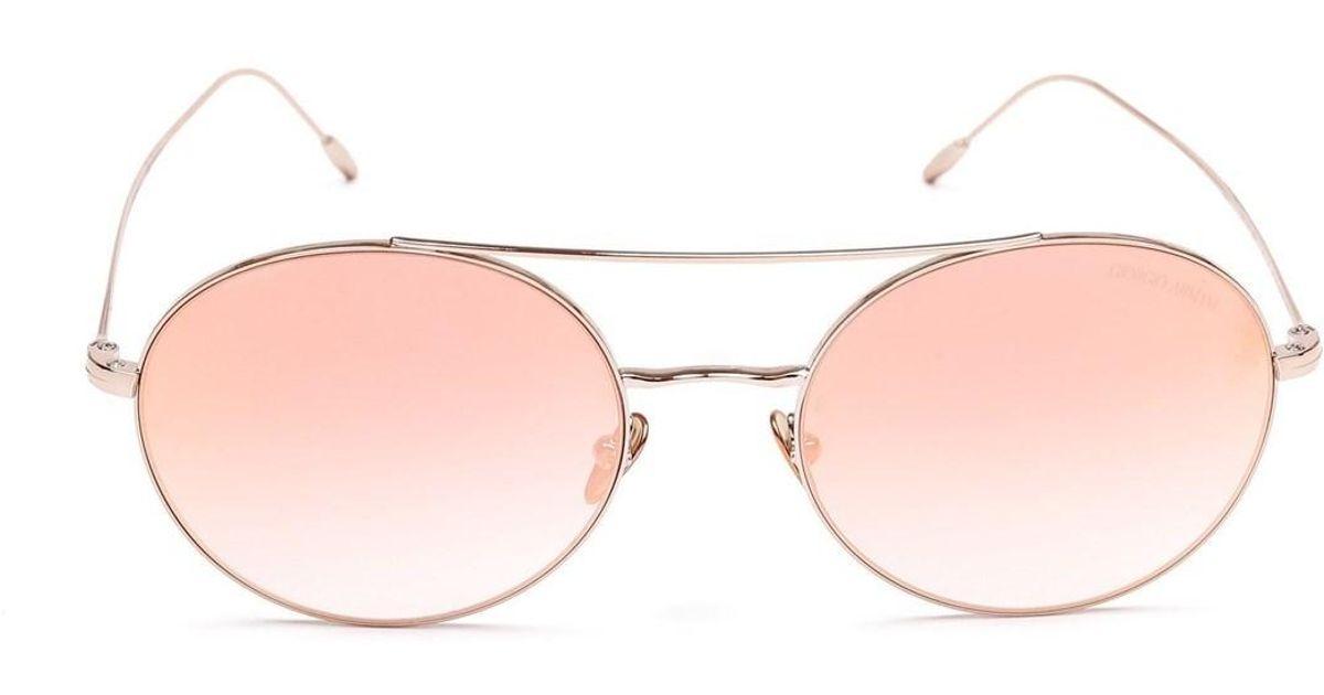 f6bef5b8029 Lyst - Giorgio Armani Women s Ar605030116f Gold Metal Sunglasses in Metallic