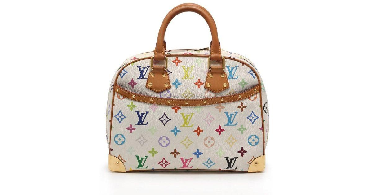 Lyst Louis Vuitton Trouville Handbags Monogram Multi Color Bron In White