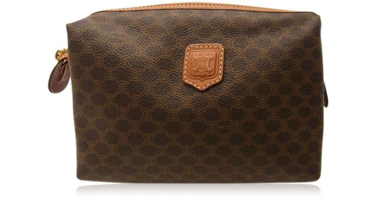 4e1586ddc5ab Lyst - Céline Bag Second Hand Bag Unisexused G308 in Brown