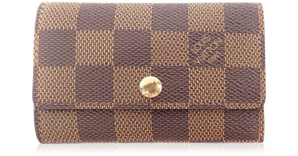 0bf151537649 Lyst - Louis Vuitton Damier Canvas Key Case N62630 Multicles 6 in Brown