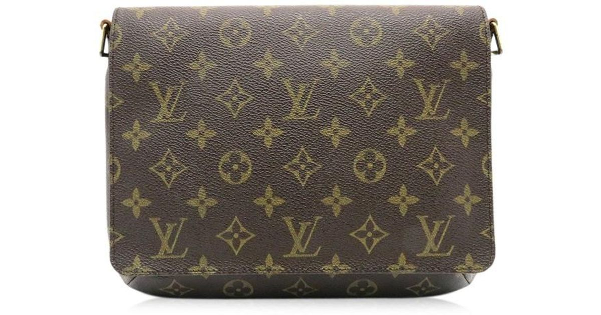 07586db738ba Lyst - Louis Vuitton Monogram Musette Tango Shoulder Bag Brown M51257 9785  in Brown