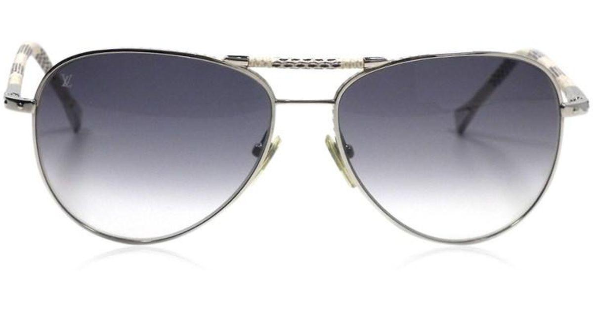 6be2be933085 Lyst - Louis Vuitton Sunglasses Conspiration Pilot Damier Azur Z0203u Arjan  Damier Teardrop in Gray