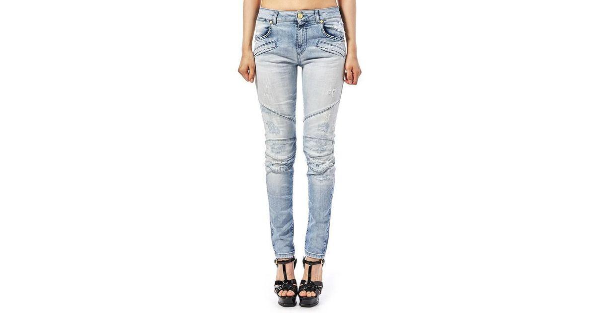 53220b2d Lyst - Balmain Women's Jeans in Gray