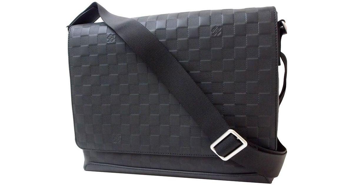 Lyst - Louis Vuitton District Mm Damier Infini Leather Black Shoulder Bag  Messenger Bag  new  in Black for Men e3cb1e4250eb1