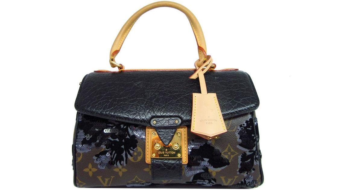 Lyst - Louis Vuitton Monogram Carrousel Hand Bag Limited Edition Fleur De  Jais M40434 in Brown e3672d820ba93