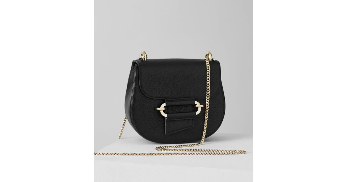 33b9531fbaa4 Reiss Maltby Mini - Mini Cross-body Bag in Black - Lyst