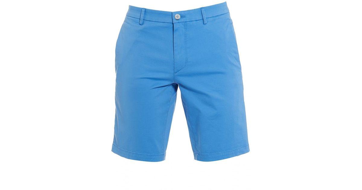 b4dfe4b2a BOSS Liem4-w Sky Blue Cotton Slim Fit Shorts in Blue for Men - Lyst