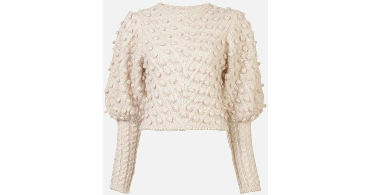 d8e4d6f215d Zimmermann Unbridled Bauble Sweater In Buff in Natural - Lyst