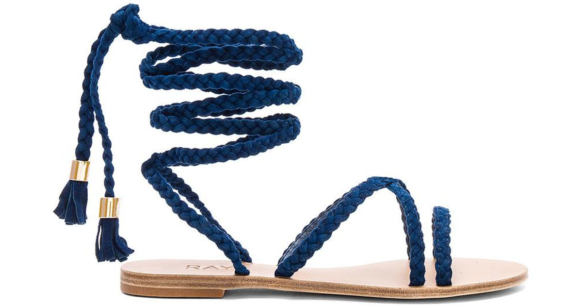 32d90ef3f64e Lyst - RAYE X Revolve Sadie Braid Sandal in Blue