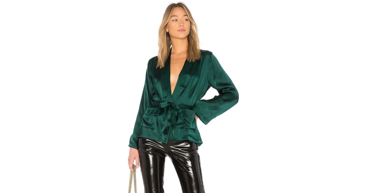 Cami nyc the drew top in green lyst for Best dress shirts nyc