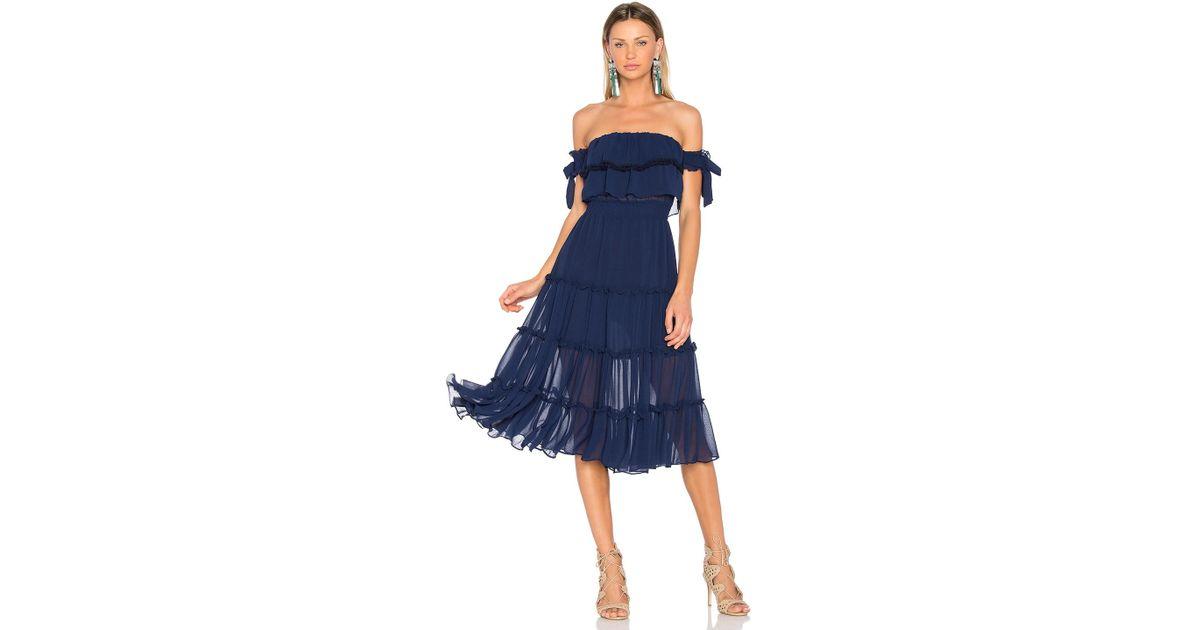 98801092a0 MISA Micaela Dress in Blue - Lyst