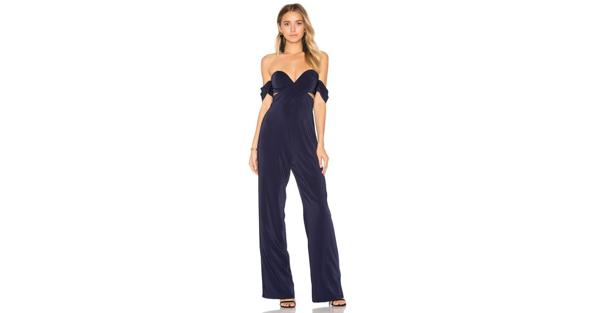 7154601521fd Lyst - House of Harlow 1960 X Revolve Bianca Jumpsuit in Blue