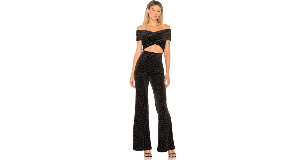 5eb7448ab57 Lyst - House of Harlow 1960 Lynette Jumpsuit in Black