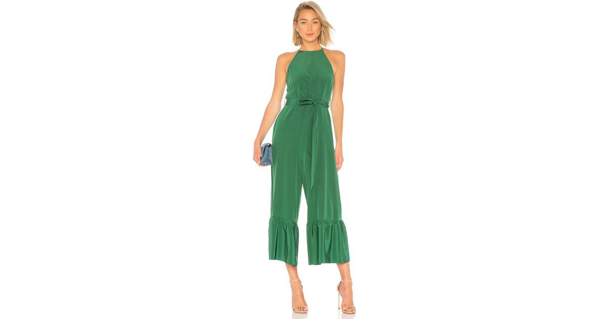 60240a3e9cf Lyst - Tibi Halter Ruffle Jumpsuit in Green