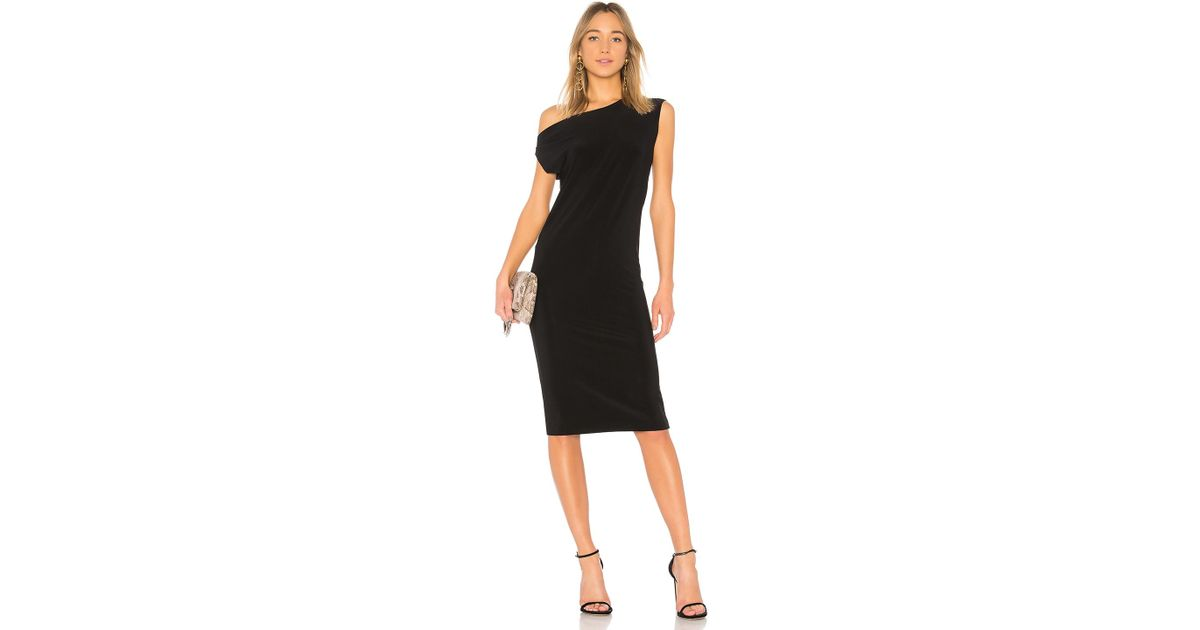 3ead5c9a36a Norma Kamali Drop Shoulder Sleeveless Dress in Black - Lyst